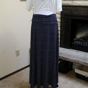 Christopher & Banks Foldover Top Maxi Skirt